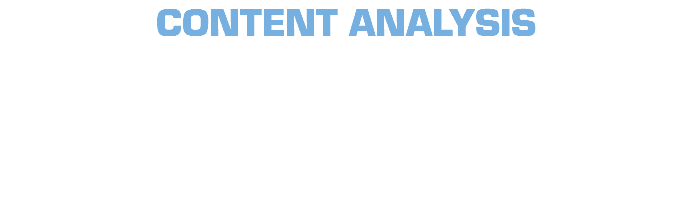 CONTENT ANALYSIS Also known as Inbound marketing , We explore all current selling tactics within your campaign then we produce high quality information that your ideal customer desires .